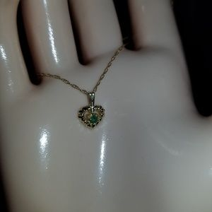 "10k Gold 18"" Heart Necklace"